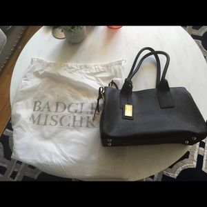 Badgley Mischka Saffiano leather shoulder bag